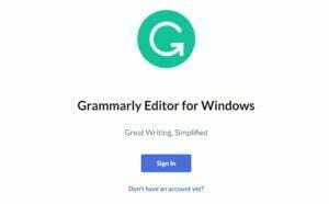 Grammarly sign up