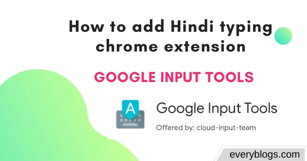 add Hindi typing chrome extension
